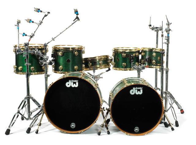 Cream / Ginger Baker: Ginger Baker's DW drum kit used on stage for the Cream 2005 reunion,
