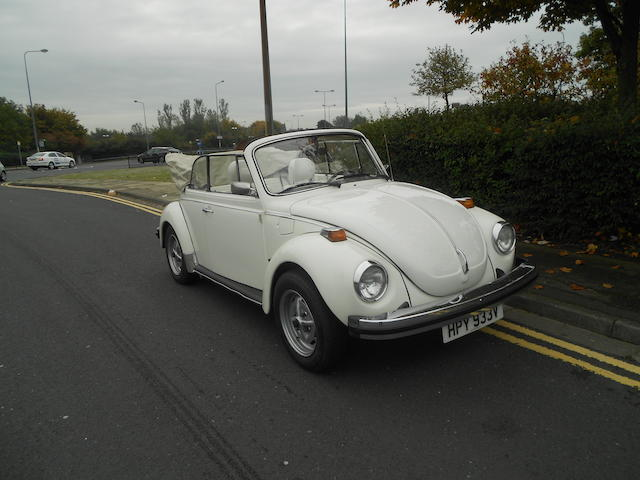 Left-hand drive,1980 Volkswagen 'Beetle' 1600 Cabriolet Chassis no. 1592038125 Engine no. XAJ040503