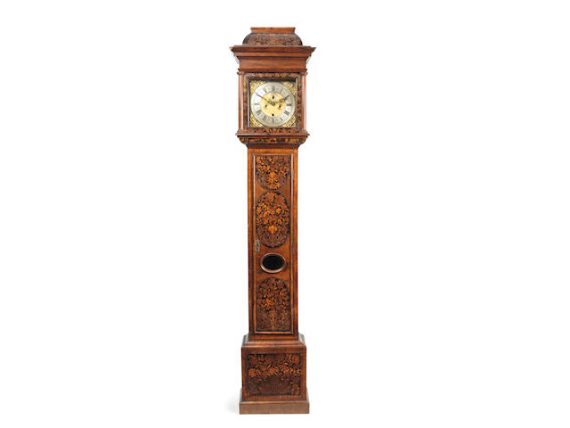 A late 17th century marquetry longcase clock signed Richard Mory, London