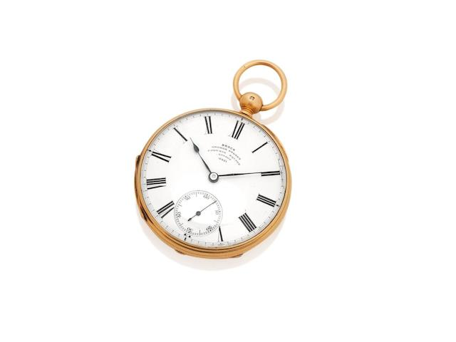 The historically significant John McDouall Stuart Explorer's pocket watch, circa 1859  by James Brock, London and presented from The Royal Geographical Society on 9th May 1859