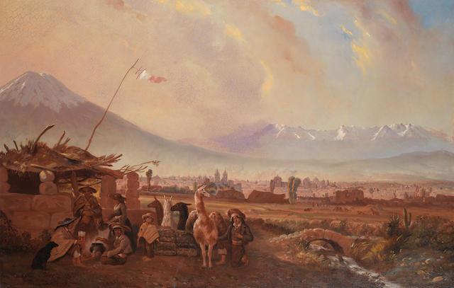 Achille Bigot (French, 1809-1884) Arequipa, Peru