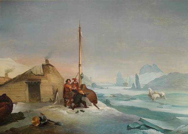 François Auguste Biard (French, 1798-1882) Nova Zembla coast