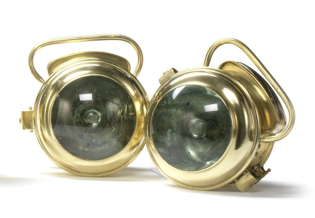 A rare pair of Sylverlite electric headlamps,
