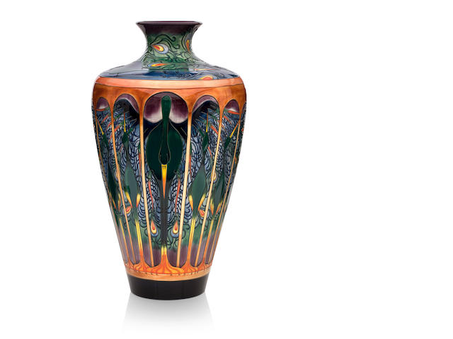 A massive Moorcroft 'Gatekeepers' vase Designed by Emma Bossons, dated 22nd April 2002