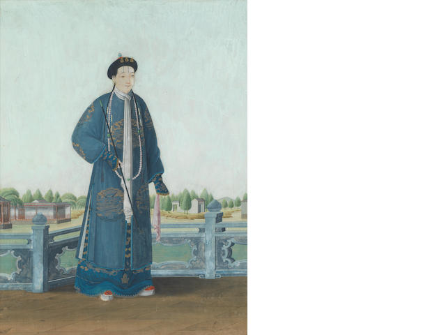 Chinese School, 19th Century Portrait of a high ranking official