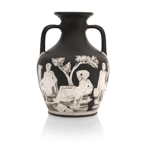 A good Wedgwood copy of the Portland Vase Circa 1871