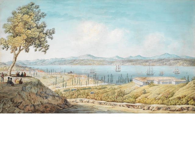 English School, 19th Century A view of the Bosphorus, Istanbul; and a companion. (2)