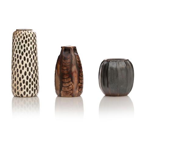 Three miniature Martin Brothers stoneware vases Circa 1900