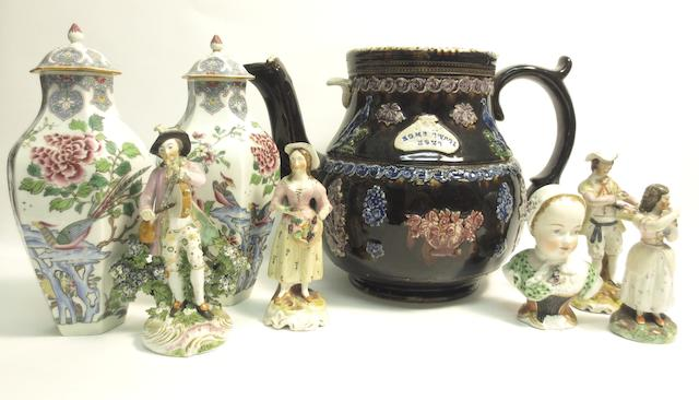 A collection of English and Continental ceramics