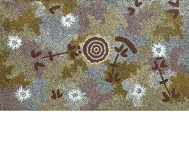 Clifford Possum Tjapaltjarri AO (Australia 1932-2002) Rock Wallaby Dreaming, 1988