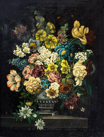 European  School Floral still life