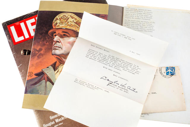 General Douglas Macarthur ( 1880-1964) letter and portfolio