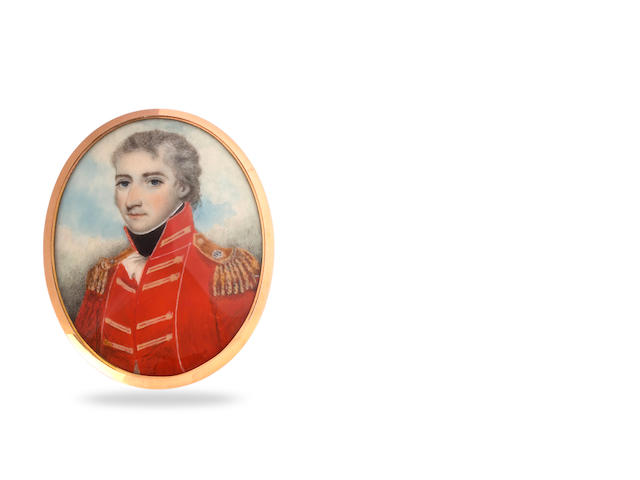 Nathaniel Plimer (attributed) , Undated but circa 1803-1805 A Miniature Portrait of Lieutenant-Coloniel Thomas Makdougall Brisbane (1773-1860), Governor of New South Wales 1821-1825,