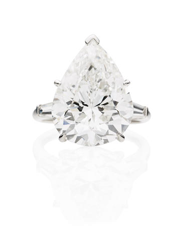 A magnificent diamond single-stone ring, by Harry Winston