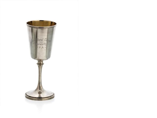 An Australian silver goblet by August Ludwig Brunkhorst, Adelaide, circa 1910