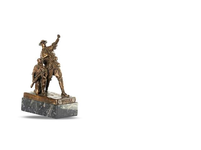 'Cobbers' A titled bronze figure group of two World War I Australian infantrymen