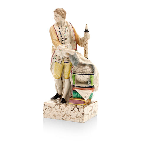 A Staffordshire pearlware figure of Isaac Newton Early 19th century