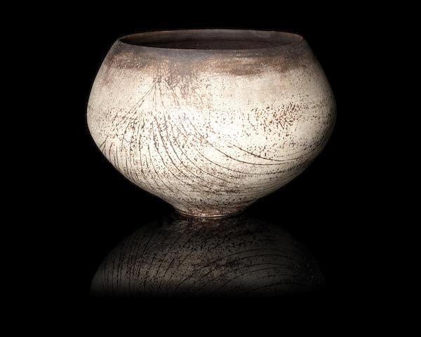 Hans Coper (1920-1981) An Early Pot with Linear Sgraffito Design, circa 1953