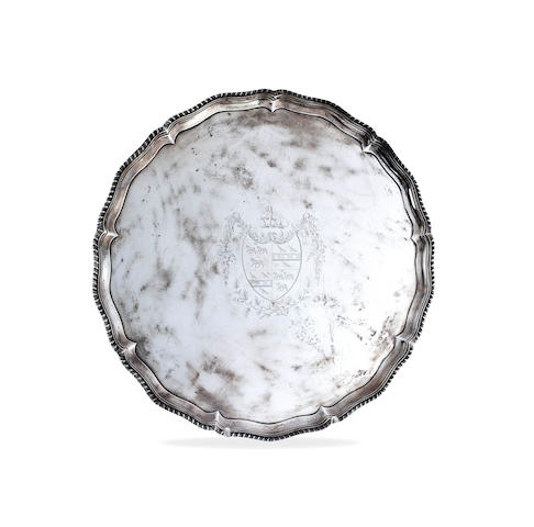 A George III silver salver by John Carter II 1773