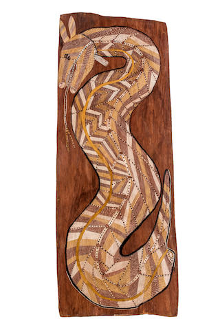 John Mawurndjul (born circa 1952) Ngalyod the Rainbow Serpent