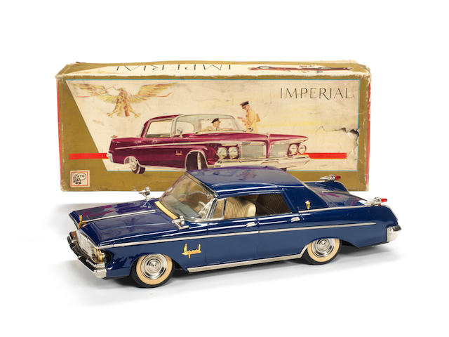 Asahi Toy Co a rare boxed tinplate Chrysler Imperial toy car, 1962