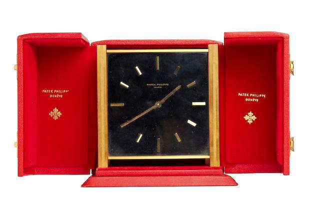 Patek Philippe. A rare brass solar desk clock Case no. 1012, Movement No. 872997. Circa 1960's