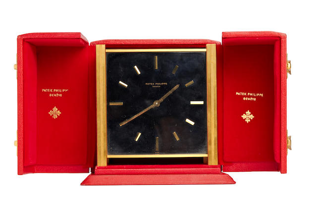 Patek Philippe. A rare brass solar desk clock Case no. 1012, Movement No. 872997. Circa 1960's