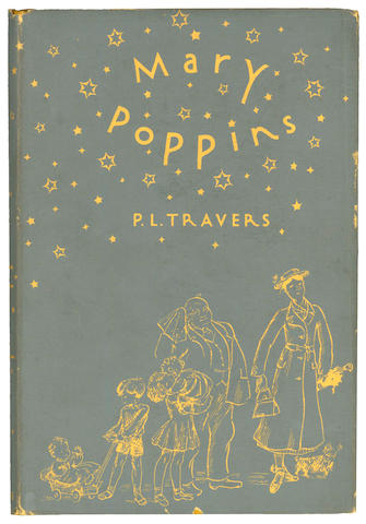 TRAVERS (P.L.) Mary Poppins, Gerald Howe, [1934]; Mary Poppins, New York, Reynal and Hitchcock, [1934]; Mary Poppins Comes Back, Lovat, Dickson and Thompson, [1935]; Mary Poppins Opens the Door, Peter Davies, [1944] (4)