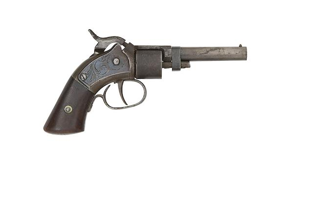 A .28 Mass. Arms Co. Maynard Primed Six-Shot Pocket Revolver