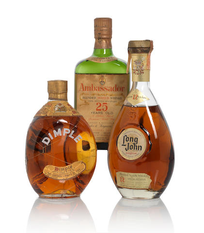 Dimple Whisky 1970s (1)   Ambassador 25 year old (1)   Long John 12 year old (1)