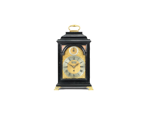 A good mid 18th century quarter chiming table clock the dial signed William Webster, Exchange Alley, London