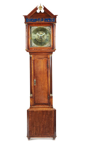 An 18th century oak 8 day longcase clock James Barlow. Oldham.1775-1781
