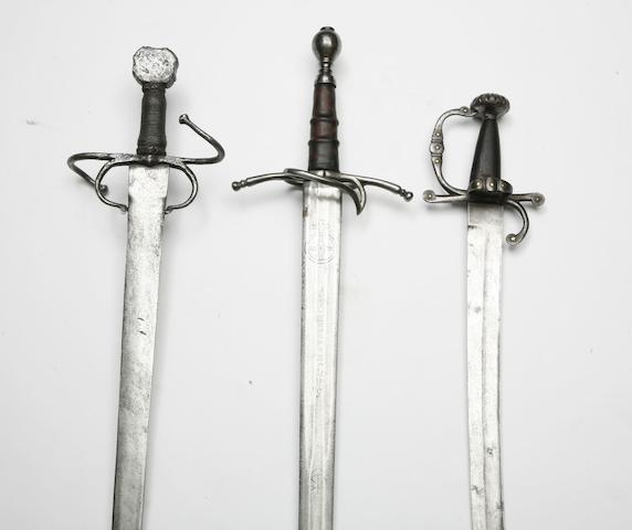 Three Swords In 16th/17th Century Style