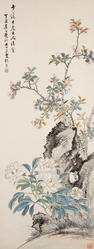 Zhang Xiong (1803-1886) Peonies and Peach Blossoms