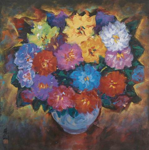 Lin Fengmian (1900-1991) Dahlia