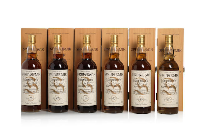 Springbank Limited Edition-25 year old (1)   Springbank Limited Edition-30 year old (1)   Springbank Limited Edition-35 year old (1)   Springbank Limited Edition-40 year old (1)   Springbank Limited Edition-45 year old (1)   Springbank Limited Edition-50 year old (1)