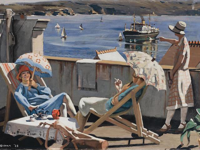 Herbert Badham (1899-1961) On the Roof, 1928