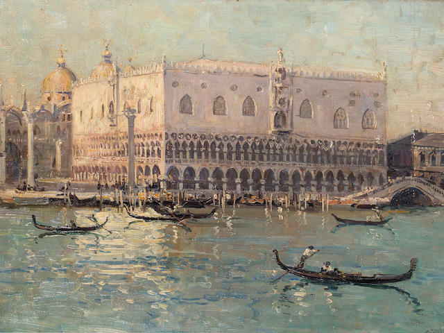 Arthur Streeton (1867-1943) The Palace of the Doges, c.1906