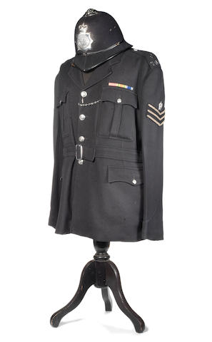 Dixon Of Dock Green: Jack Warner's police tunic and helmet,