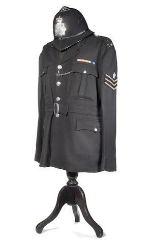 Dixon Of Dock Green: Jack Warner's police tunic and helmet,