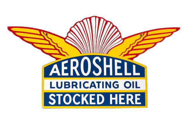 An Aeroshell Oil enamel advertising sign,