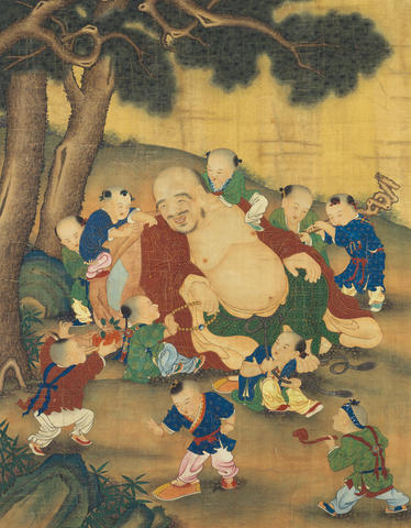 Anonymous (17th Century) Maitreya Buddha and Ten Children