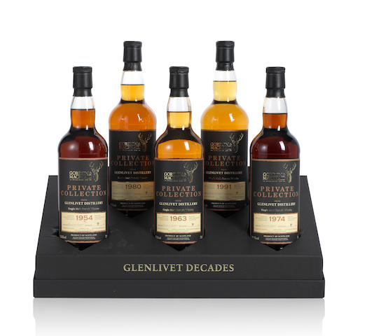 Gordon & MacPhail-Glenlivet Decades Private Collection  Glenlivet-1954 (1)   Glenlivet-1963 (1)   Glenlivet-1974 (1)   Glenlivet-1980 (1)   Glenlivet-1991 (1)