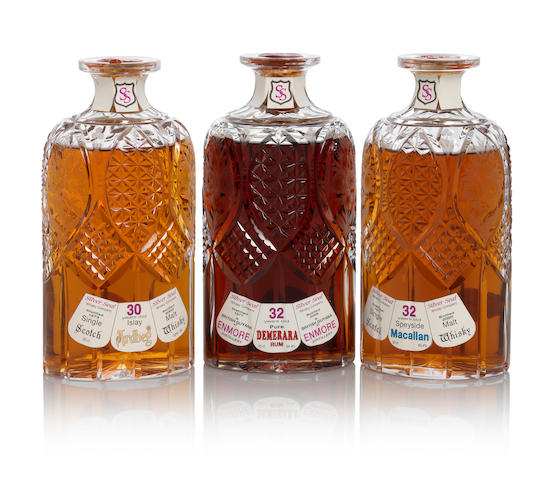 Macallan Decanter-1977-32 year old (1)   Ardbeg Decanter-1973-30 year old (1)   Demerara Rum Decanter-1977-32 year old (1)