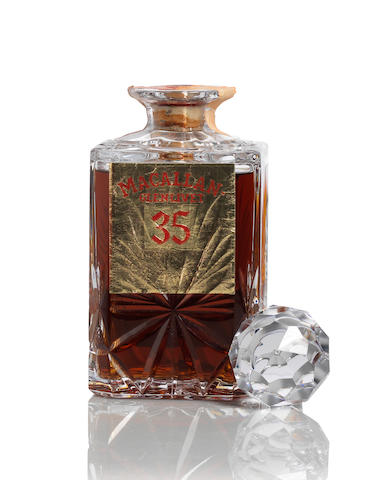 The Macallan-Glenlivet Crystal Decanter-35 year old