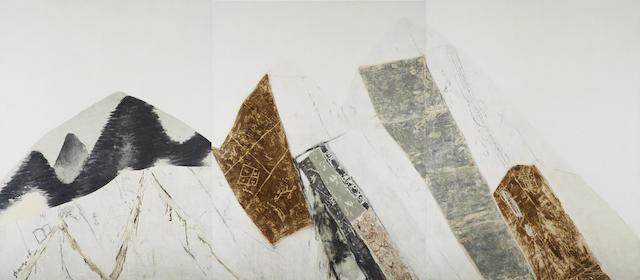 Shang Yang (Chinese, born 1942) Dong Qichang's Plan-3 (triptych)