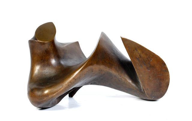 British School, 20th Century Human form, bronze sculpture, 23cm (9 1/16in) high.