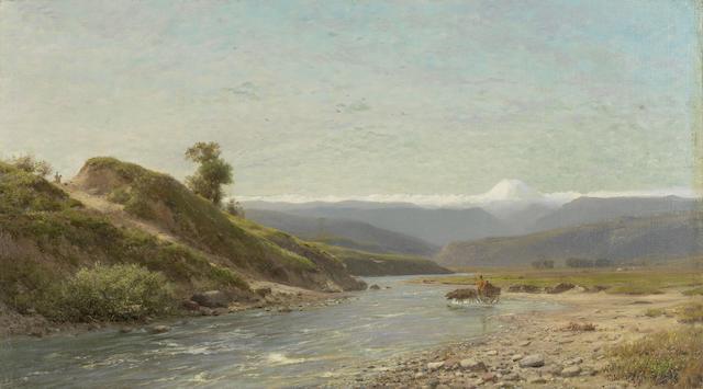 Lev Felixovich Lagorio (Russian, 1827-1905) Mount Elbrus