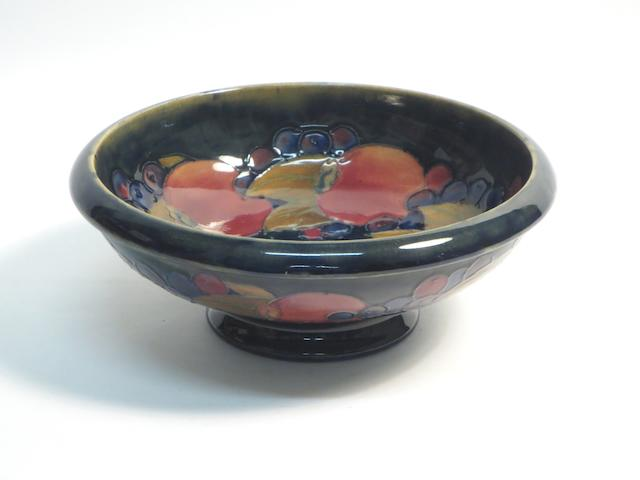 A William Moorcroft 'Pomegranate' footed bowl
