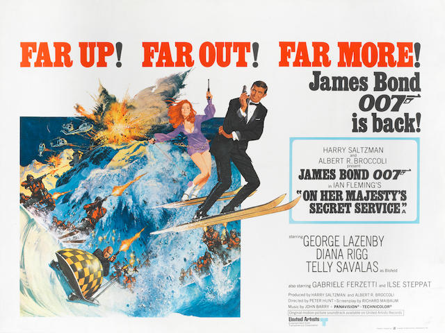 James Bond: On Her Majesty's Secret Service,  Eon / United Artists, 1969,